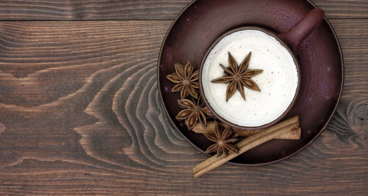 Herbal chai tea with milk