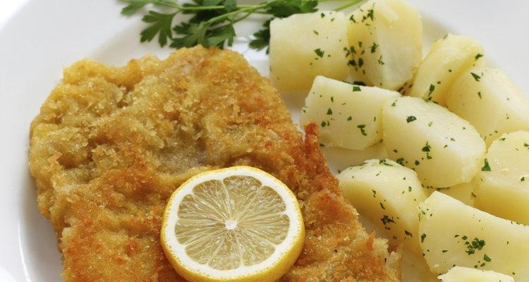 wiener schnitzel, veal cutlet