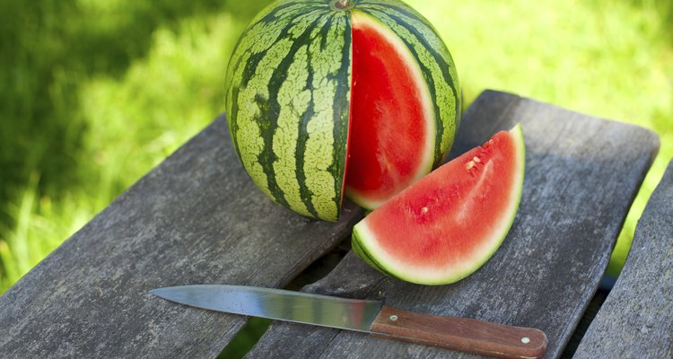 water melon on garden table