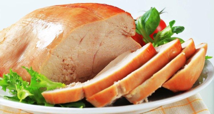 Roast turkey breast on a plate