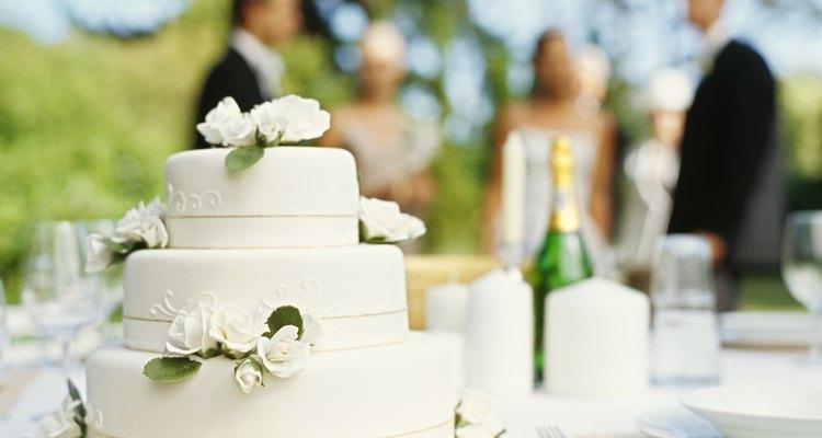 close-up of a wedding cake