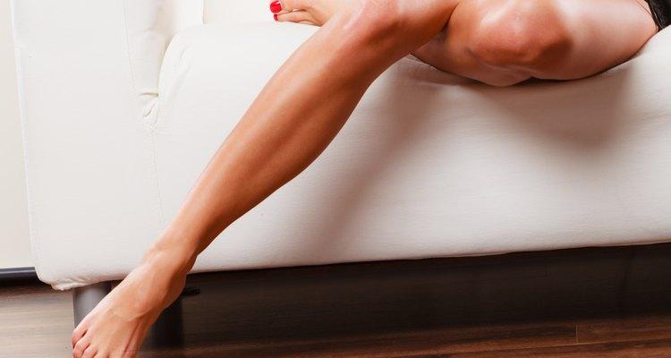 Perfect female legs indoor.