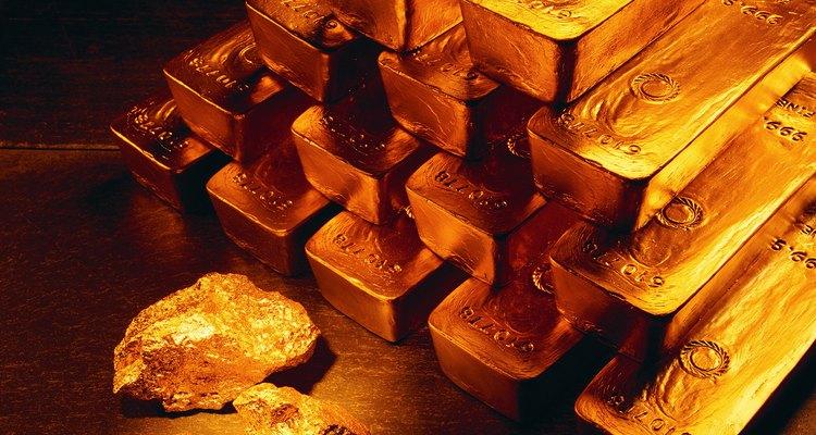 Algunas formas en las que se puede presentar el oro.