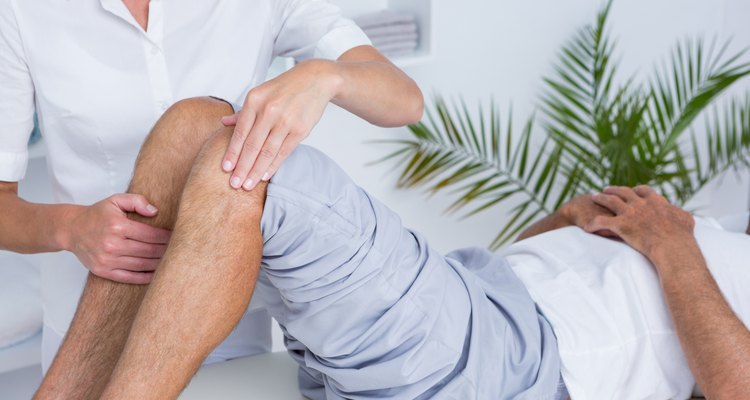 Man having knee massage