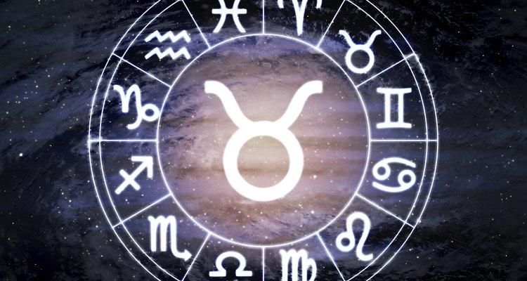 Taurus - horoscope circle on beautiful space background