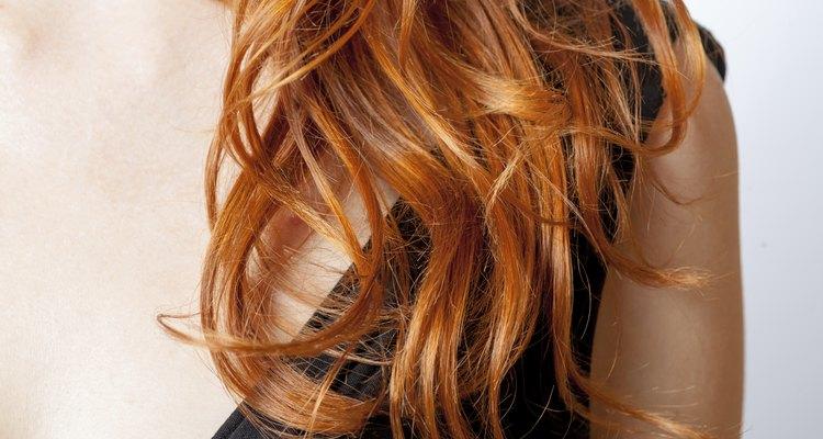 Close up natural curly hair