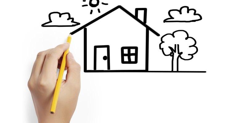 Nunca olvides dibujar el techo de la casa.