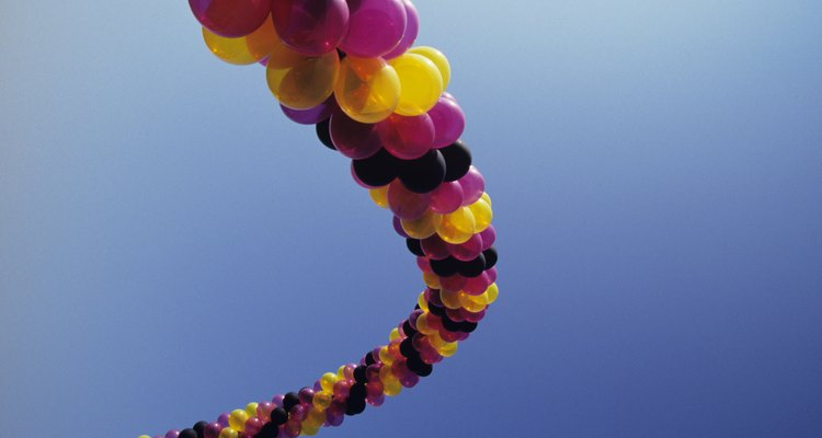 Balloon arches often have PVC pipe at the centre.