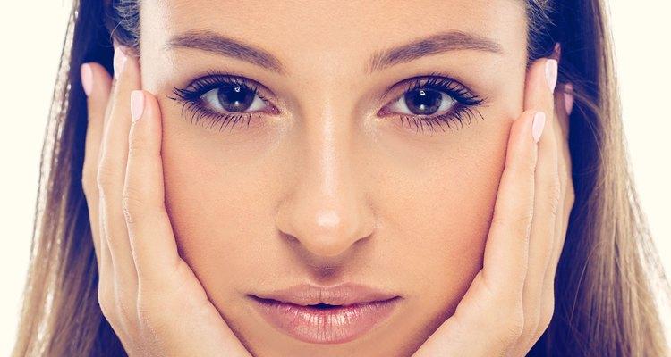 beautiful woman face studio natural portrait
