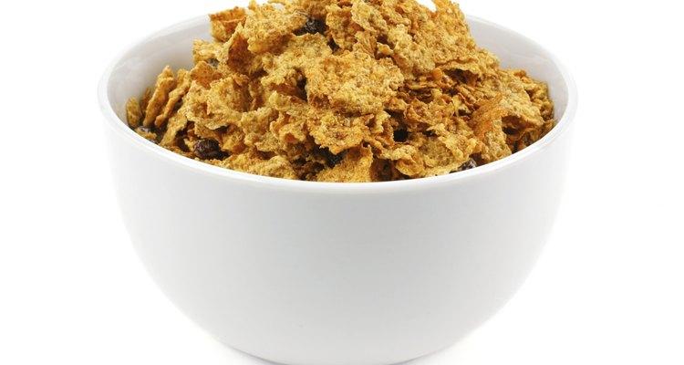 Bowl of bran flake cereal