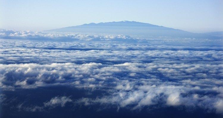 Mauna Kea, Hawaii, desde el aire.