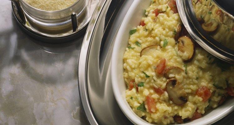 Precocina el risotto para hacer la preparación final en un instante.