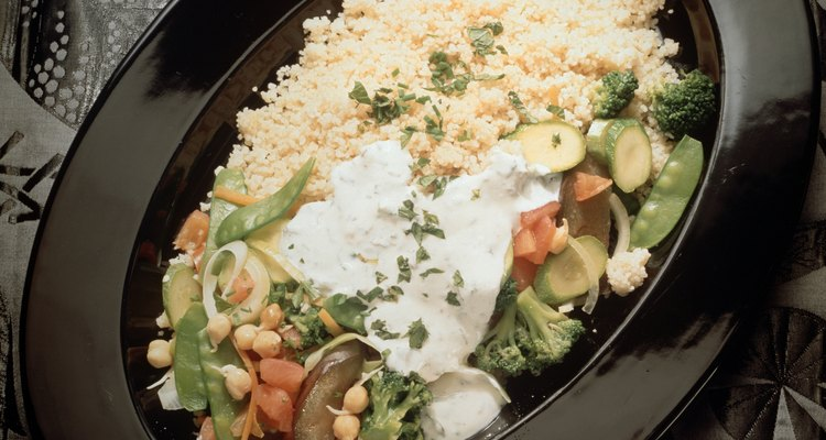 Couscous with Vegetables and spicy Sauce