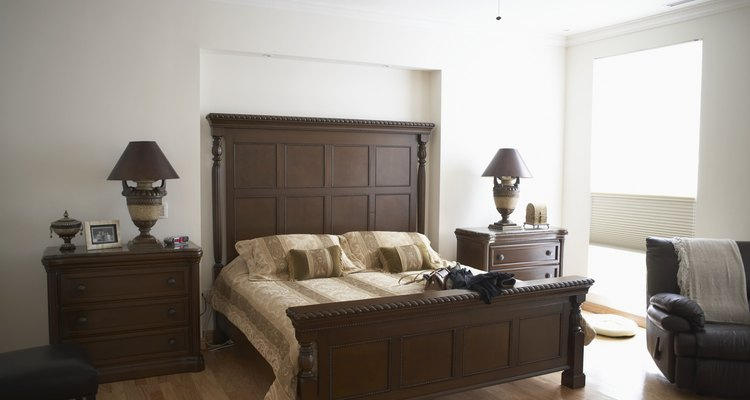Wooden beds can be painted just about any colour.
