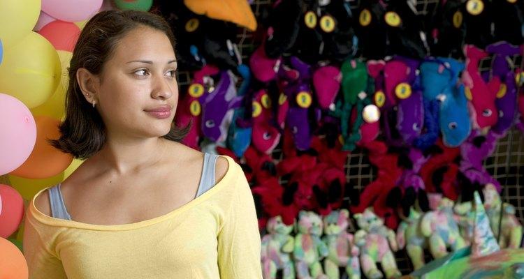 Woman at carnival game