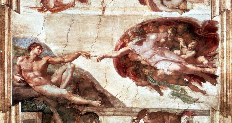 """""""A Criação do Homem"""", de Michelangelo, foi pintado durante o Renascimento"""