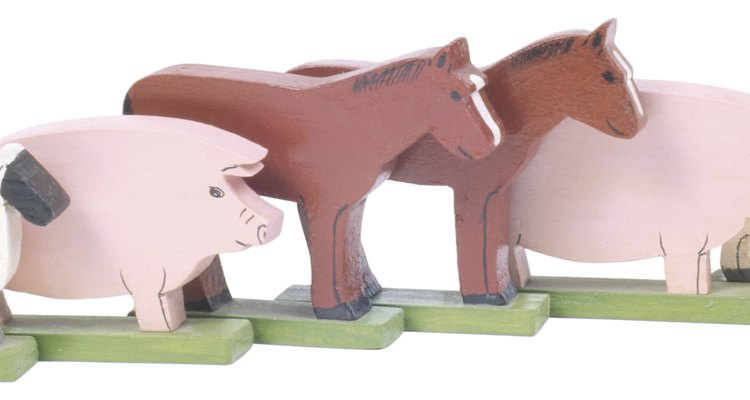 Wood farm animals can function as toys, learning tools and decorative items.