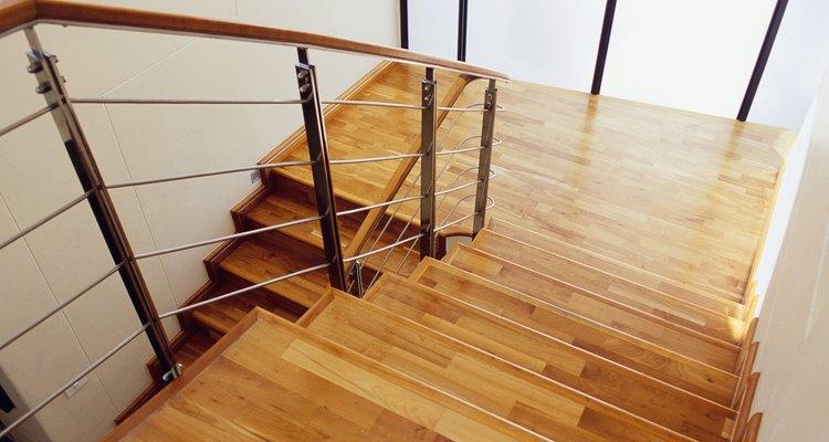 Exemplo de degraus de madeira