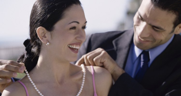 A Greek lavalier is said to be a level of commitment that will lead to engagement and marriage.