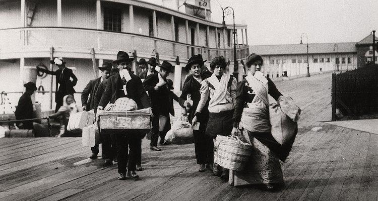 Los inmigrantes durante el siglo XIX realizaron una amplia variedad de trabajos.