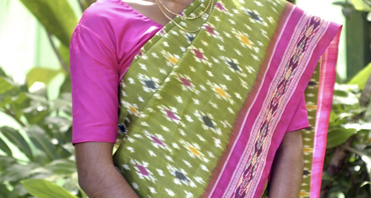 A sari is a traditional Indian dress.