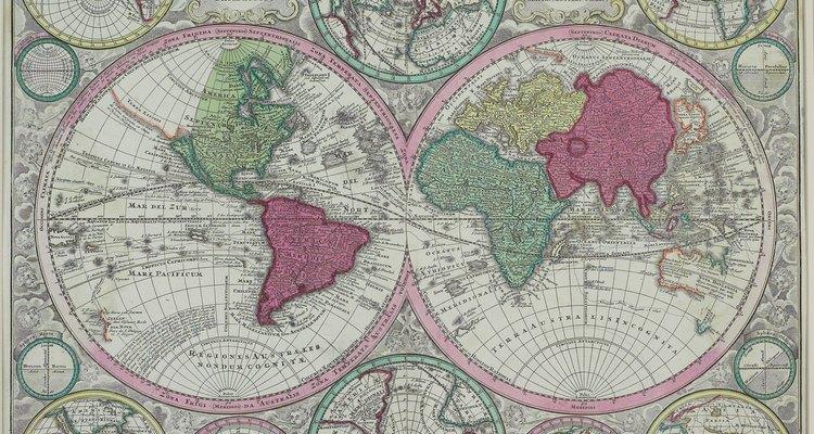 Os países no hemisfério ocidental incluem todos aqueles que ficam do lado oeste do Meridiano de Greenwich
