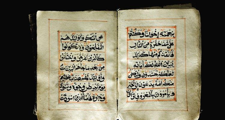 A língua árabe é escrita da direita para a esquerda