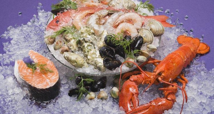 Assortment of seafood