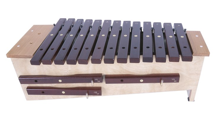You can create a xylophone out of copper or glass at home.