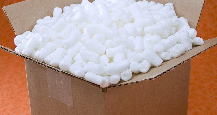 O isopor é um dos principais materiais usados para proteger itens durante o transporte