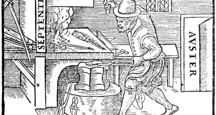 As virtudes do aço e do ferro eram combinadas para criar armamentos fortes e resistentes