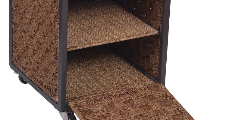 Los sistemas de almacenamiento en cubas vienen en materiales decorativos.
