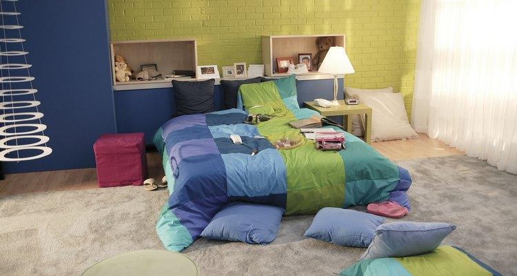 Espacio divertido para un dormitorio juvenil.