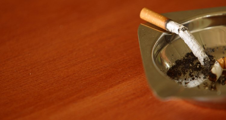 Baking soda in the bottom of ashtrays helps to eliminate stale smoke smells from a room.