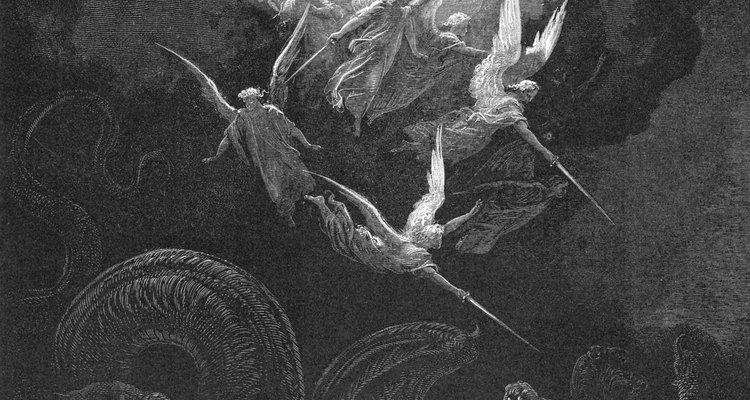 El Arcángel San Miguel frecuentemente se muestra peleando contra una fuerza oscura del mal.