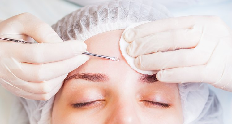 Concept of medical treatment of rejuvenation and skincare