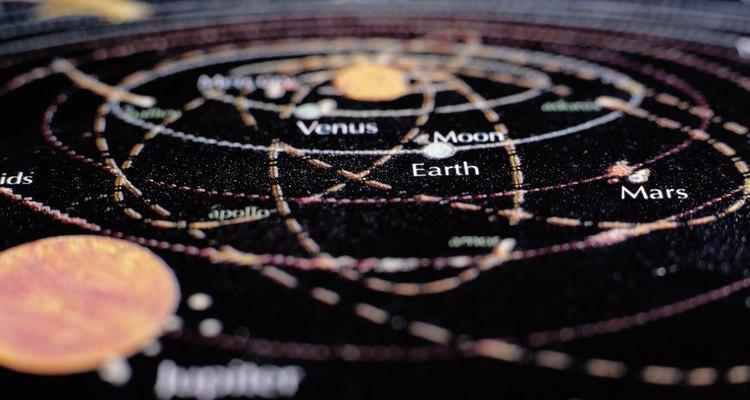 Um mapa estelar mostrará a ele as estrelas e planetas