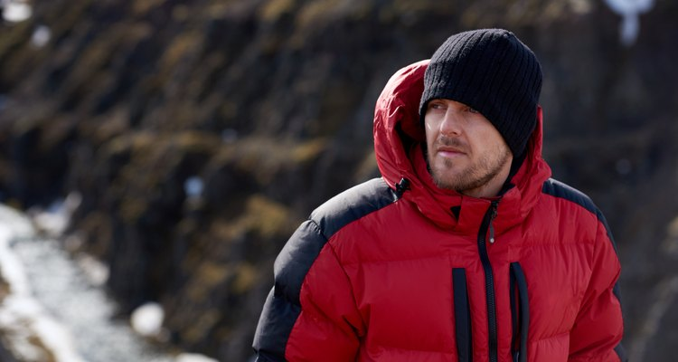 Adventure man trekking portrait
