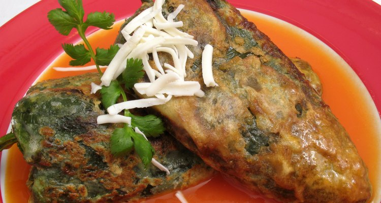 Chile Rellenos Stuffed With Cheese