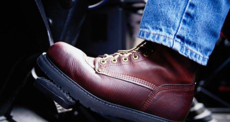 Exemplo de bota de couro