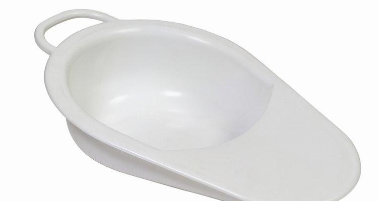 A fracture bedpan is smaller and less cumbersome than a standard size.