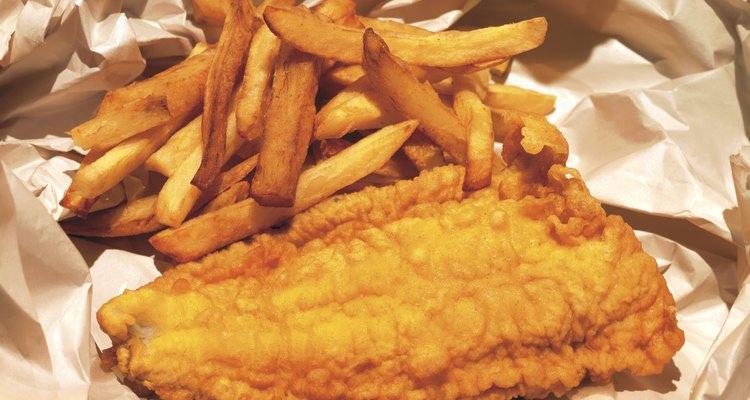 Peixe com batatas fritas