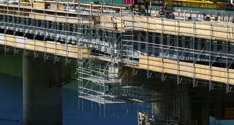 Scaffolding typically comes in rectangular sections and can be rented or bought.