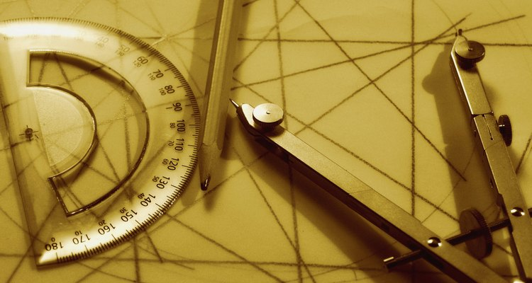 The protractor will help you draw accurate nine-pointed stars