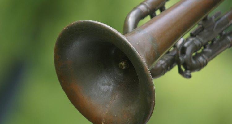 Uma pintura pode destacar o trompete