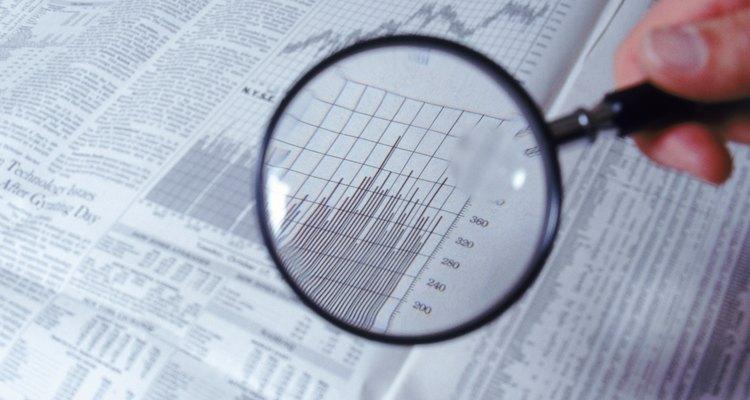 Tabela do mercado de ações