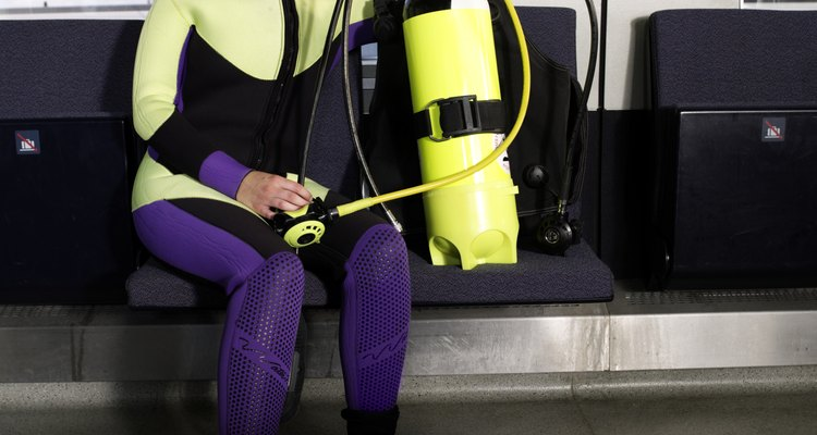 An oxygen tank is required for scuba diving.