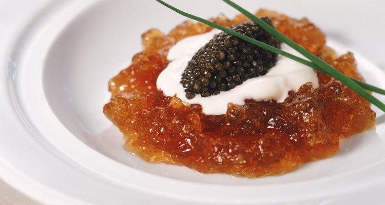 El caviar es un manjar raro y caro.