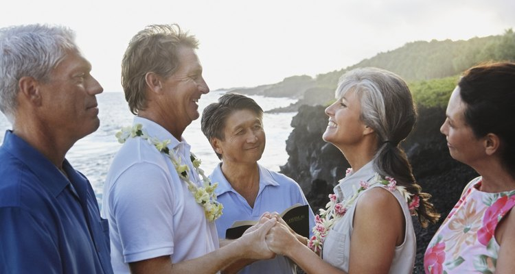 Couple Being Married on Beach