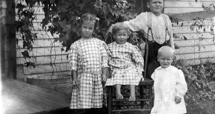 Vintage image of children